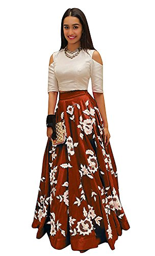 Vaidehi Creation Women's New Attractive CottonSilk Skirt / Lehenga (Maroon)