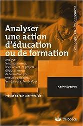 Analyser une action d'éducation ou de formation