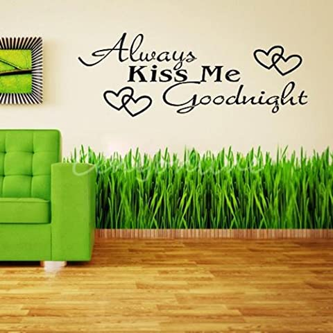 Sticker Mots - Always Kiss Me Goodnight Phrase Amour Mots