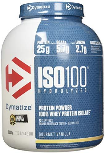 Dymatize Whey Protein Hydrolysat + Isolat – Premium Eiweißpulver – Protein Shake / 2,2 kg Gourmet Vanilla