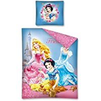 PRINCIPESSE Set Letto ANIMAL FRIENDS 140x200cm ORIGINALE DISNEY 100% Cotone Cenerentola Aurora Biancaneve