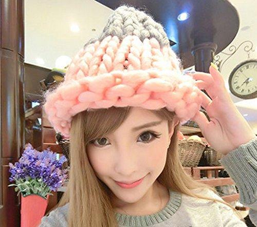 Chapeau Féminin Automne Hiver Loisirs Sauvage Hiver Tricotage Gardez Chaud Doux Beau Sertissage ( couleur : Dix# ) # 8