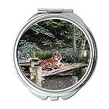 Yanteng Spiegel, Schminkspiegel, Tiergroßkatze, Taschenspiegel, tragbarer Spiegel
