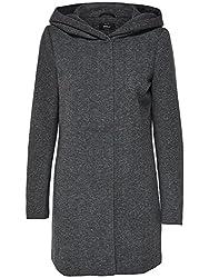 ONLY Damen Kurzmantel Übergangsmantel (L, Dark Grey Melange)