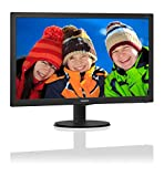 Philips 240V5QDAB Monitor 23,8' LED IPS Full HD, 1920 x 1080, 5 ms, HDMI, DVI, VGA, Casse Audio Integrate, Attacco VESA, Nero