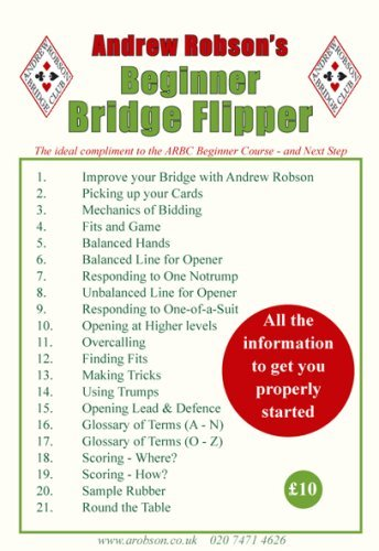 Andrew Robson's Beginner Bridge Flipper by Andrew Robson (2007-12-25)