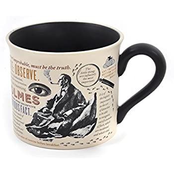 intriguing images Sherlock Holmes Coffee Mug Comes in a Fun Gift Box rules of deduction and Sidney Pagets portrait Holmes quotes