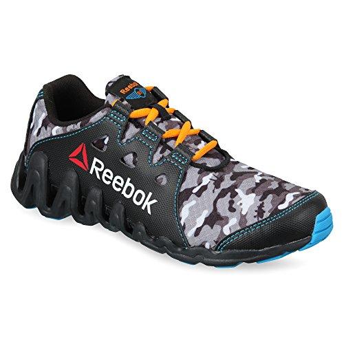 Reebok Planes Zig Big N Fast Black,Rivet Grey,Flat Grey,Steel,Orange and Blue Sneakers - 11 Uk
