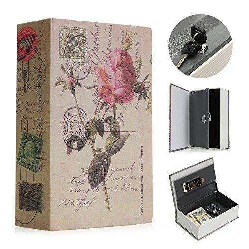 SAFETYON Buchsafe mit Schlüssel, Feuerfest Geldkassette Buch, Vintage Buchtresor als Roman, Book Safe 18 X 11.7 X 5.5cm