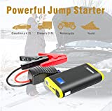 GREPRO Auto Starthilfe 500A Autobatterie Externer Akku Ladegerät für 12V-Fahrzeuge (4,5 l Benzin-Auto, 2,5 l Diesel-Auto) mit eingebaute LED-Taschenlampe für Laptop Smartphone Tablet und Vieles Mehr
