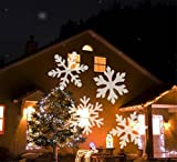 HAPPYMOOD Weiß Schnee Beamer Wasserdicht Fee Romantisch Weihnachten Schneefall Bild Zum Draussen Garten Rasen Projektion Lampe