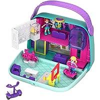 Polly Pocket Coffret Univers Le Sac à Boutiques avec 2 mini-figurines et accessoires, autocollants et 5 surprises cachées, jouet enfant, GCJ86