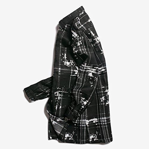 NiSeng Uomo casual cappotto slim fit manica lunga Nella sezione lunga Giacca a vento E