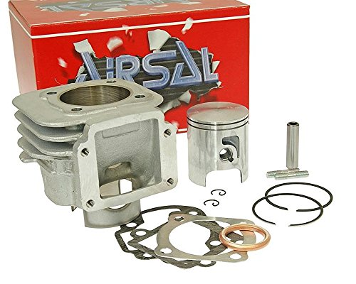 AIRSAL T6 Tech-Piston Kit cylindre 70 cc pour MBK Booster Naked 50cc NG, Rocket, Spirit, Track
