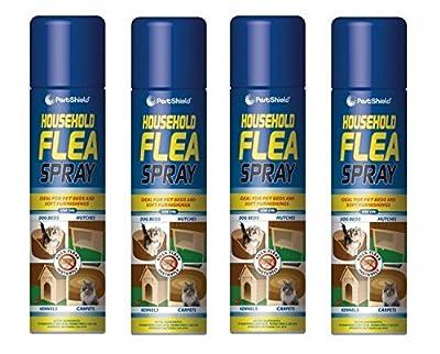 4 X 200ml Flea Killer Spray Aerosol Animal Flea Dog Cat Tick Protection House by 151