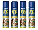 4 X 200ml Flea Killer Spray Aerosol Animal Flea Dog Cat Tick Protection
