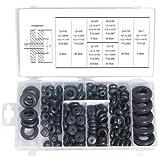 Gummi-Durchgangstüllen und Gummi-Durchführungstüllen für Werkstatt und Heimwerker, 180-tlg. (A51180)