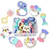 tumama 8 Stücke Baby Rassel und Beißring Spielzeug Greifling Ring-Rassel Shaker Handbell Kleinkindspielzeug Geschenkkarto
