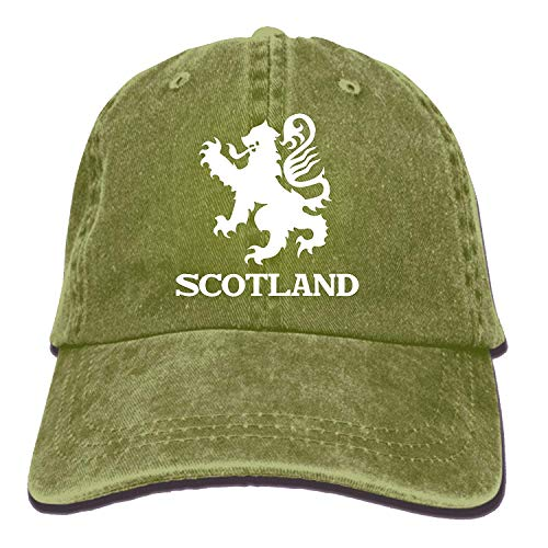 Jxrodekz Lion Rampant Scotland Scottish Washed Retro Adjustable Cowboy Caps Golf Hat for Woman and Man EE375 -