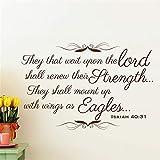 wandaufkleber kinderzimmer leuchtend Die, die auf den Herrn warten, werden ihre Stärke erneuern