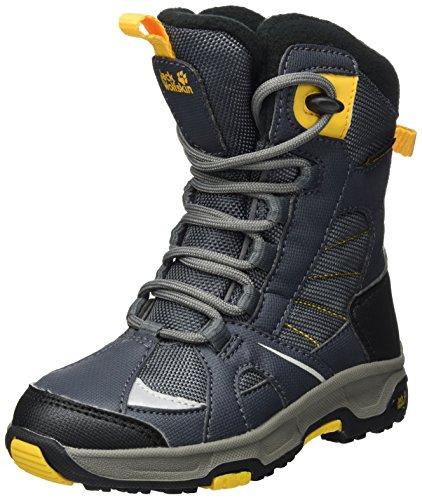 Jack Wolfskin Jungen Boys Snow Ride Texapore Schneestiefel, Grau (Burly Yellow Xt), 32 EU
