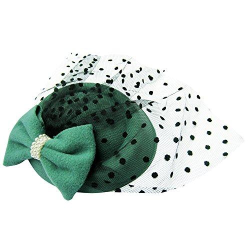 HowYouth® Damen Mesh Netz Blume Pillbox Haarspange Fascinator Hut Hochzeit Cocktail Derby ()