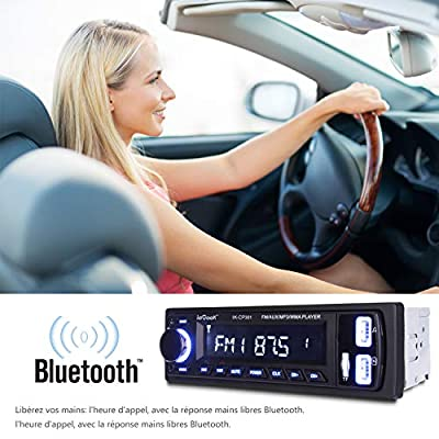[Améliorée] ieGeek Autoradio avec Mains Libres Bluetooth, autoradio stéréo numérique Radio de Voiture, Lecteur multimédia USB / MP3 / WMA/WAV/TF/FM Récepteur, autoradio Universel Single Din de ieGeek