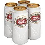 Stella Artois Lager Beer Can, 4 x 440ml