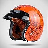 SXC Moto Casque Vintage Harley Casque 3/4 Helmets de Casque Moto Jet Scooter Touring...