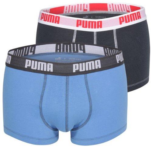 Puma Herren Boxershorts Basic 2er Pack, Blue, M, 521025001 (Italienische Unterwäsche Männer)