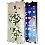 Samsung Galaxy A5 2016 Coque Protection de NICA, Housse Motif Silicone Portable Premium Case Cover Transparente, Ultra-Fine Souple Gel Slim Bumper Etui pour A5-16, Designs:Dandelion Bubbles