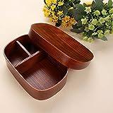 asentechuk® Japanischen Stil, wiederverwendbar Lunch Box Bento Box Food Fruit Sushi aus Holz Boxen