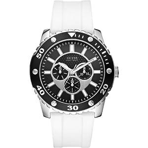 Reloj Guess W10616G2 de cuarzo para hombre con correa de silicona, color blanco de Guess