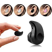 Mini Bluetooth Headset, GoldFox Mini Bluetooth 4.0 auricular de auricular inalámbrico estéreo ergonómico sin música oído hilos, Mini Wireless Bluetooth Headset 4.0 Sigilo Auriculares S530 para el teléfono móvil(Negro)