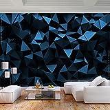 decomonkey | Fototapete 3d Effekt Textur 300x210 cm XL | Tapete | Wandbild | Wandbild | Bild | Fototapete | Tapeten | Wandtapete | Wanddeko | Wandtapete | Abstrakt Geometrische blau schwarz