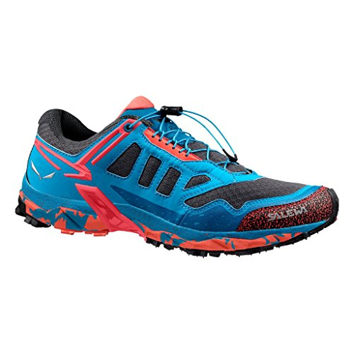 Salewa WS ULTRA TRAIN, Chaussures Multisport Outdoor femme Bleu (Magnet/Hot Coral 0676)