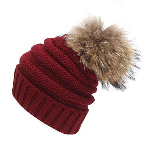 Tongshi Unisex Slouchy Tejer Beanie Hip Hop casquillo caliente del invierno del sombrero del esquí