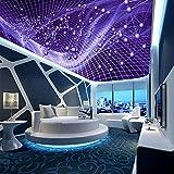 Kuamai Benutzerdefinierte 3D Foto Decke Tapeten Wandbilder Ktv Bar Clubhaus Hotel Abstrakte Schillernde Bunte Moderne Dachdecken Wandbilder-280X200Cm