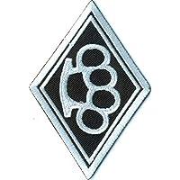 Iron On Patches Patch-Iron-Old School knuckleduster Bikerpatch Schlagring Aufn/äher Embleme B/ügelbild Aufb/ügler -
