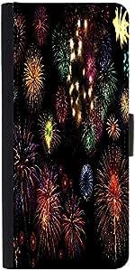 Snoogg Colorful Fireworksdesigner Protective Flip Case Cover For Samsung Gala...