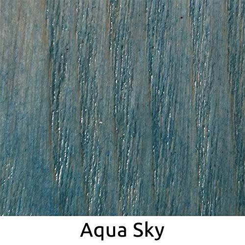 WooDeeDoo Holzlasur, Aqua Sky, 2 L - Aqua, Natürliche Pulver
