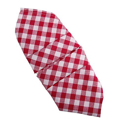 Hans-Textil-Shop Servietten 40x40 cm Karo 1x1 cm Rot Baumwolle