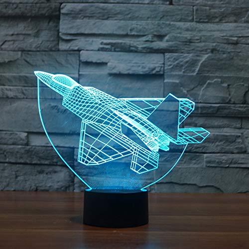 Nmdztz Acryllampe des Schreibtisch-3dführte helle Großhandel sieben farbige Nachtlicht-Tischlampe für ()