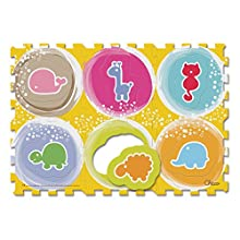 Chicco Puzzle Mat Animals, 6 Pieces