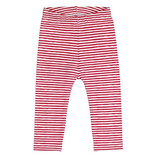 SALT AND PEPPER Baby-Mädchen B Leggins Meer Stripe Leggings, Rot (Hibiscus 360), 74