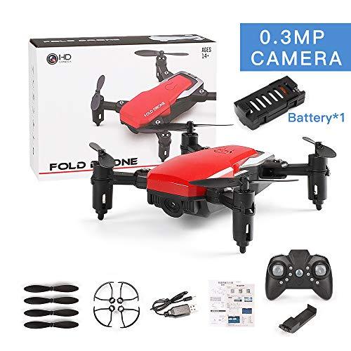 MeterMall SG800 Mini Drohne mit Kamera Höhe Halten RC Drohnen mit Kamera HD WiFi FPV Quadcopter Dron RC Hubschrauber VS Z1, JDRC JD-16, HDRC D2, SM M1 0.3MP Camera WiFi red