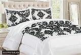 Häuser & Deco New Damast Luxus Super Weich 3Flock Gesteppte Tagesdecke Tröster Bett, Polyester, King Bed (240Cm X 260Cm)