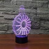 Led Nachtlicht Scheinwerfer 3D Led Flasche Tischlampe 7 Farben Schlaf Nachtlichter ändern