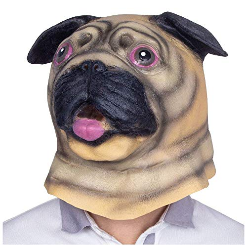 YaPin Halloween Lustige Maske Cute Teddy Pet Gott Probleme Dog Animal Mask Hood Erwachsene Latex Show Requisiten (Color : Sha Tin Dog)