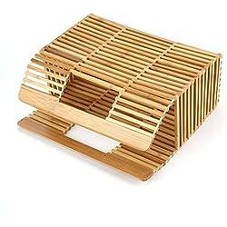 Bolso tejido de bambú de forma cuadrada de color sólido Bolso hueco para mujer de moda única para viajar de compras - burlywood